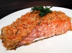 лосось запеченый в горчице