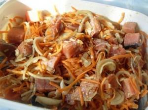 корейское блюде хе из рыбы