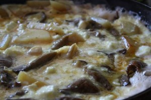 омлет с грибами и сыром в духовке