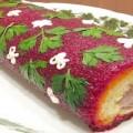 салат-рулет селедка под шубой