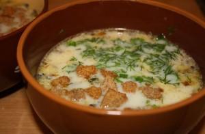 сырный суп с рыбой