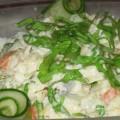 салат с отварной рыбы