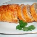 рулет из омлета с мясной начинкой