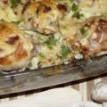 куриные ножки с картофелем и грибами