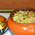 макароны с мясом в горшочке