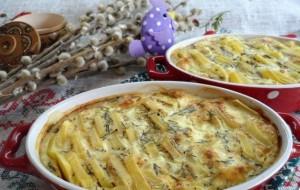 запеченный картофель в горчично-молочном соусе