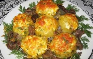 картофель с мясом по светски