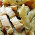 макароны с курицей и сыром рецепт