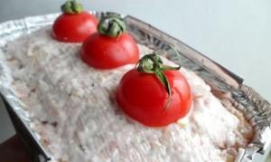 гречнево-грибная запеканка в мясном хлебе_рецепт