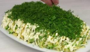 салат сельдь под зеленой шубой