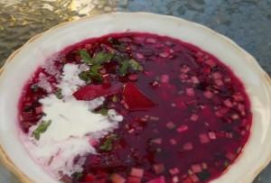 рецепт: красный холодный борщ