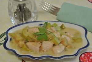 курица с кабачками в соусе рецепт