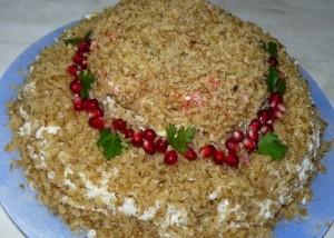 рецепт салат соломенная шляпка