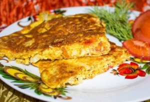 рецепт вермишелевый омлет