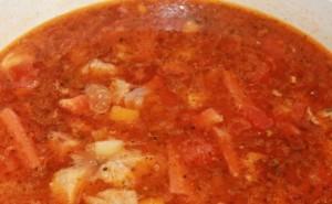 томатная паста и вода в лагмане