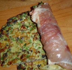 омлет со свининой