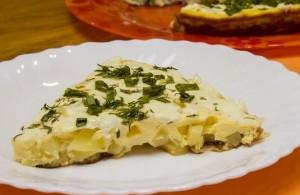 омлет с картофелем и мягким сыром рецепт