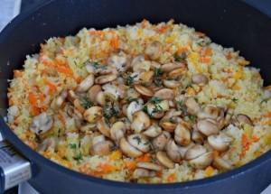 гарнир из цветной капусты с грибами