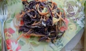 салат с краснокачанной капустой