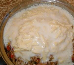гречневая запеканка с фаршем и грибами